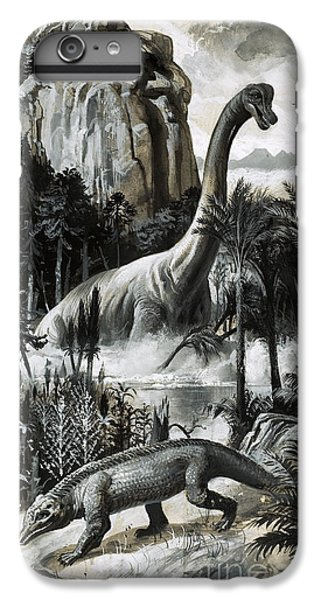Dinosaurs IPhone 6 Plus Case by Roger Payne