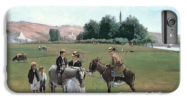 Donkey Ride IPhone 6 Plus Case by Camille Pissarro