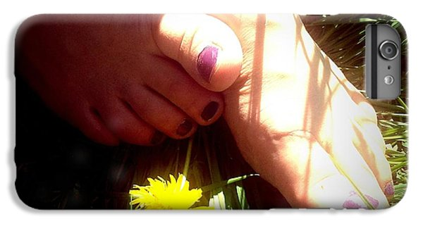 Bright iPhone 6 Plus Case - Feet In Grass - Summer Meadow by Matthias Hauser