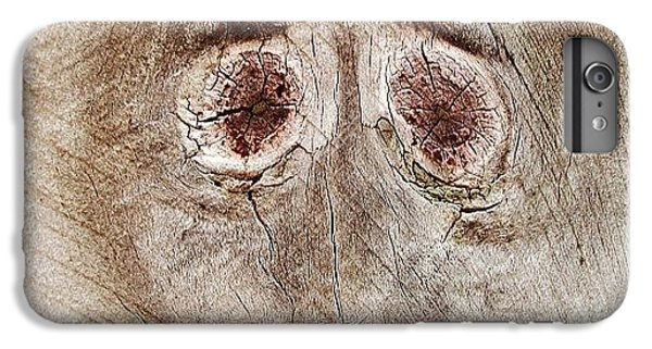 #fence #face #wood #knot IPhone 6 Plus Case by Cameron Bentley