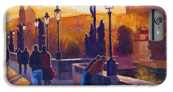 Architecture iPhone 6 Plus Case - Golden Prague Charles Bridge Sunset by Yuriy Shevchuk