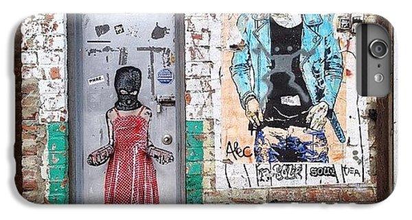 Blue iPhone 6 Plus Case - Graffiti Artist by Randy Lemoine