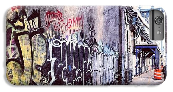 Blue iPhone 6 Plus Case - Graffiti Bridge by Randy Lemoine