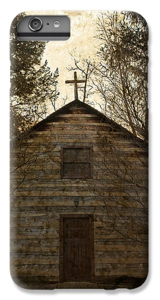 Grungy Hand Hewn Log Chapel IPhone 6 Plus Case by John Stephens