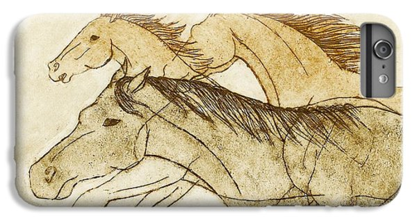 IPhone 6 Plus Case featuring the drawing Horse Sketch by Nareeta Martin