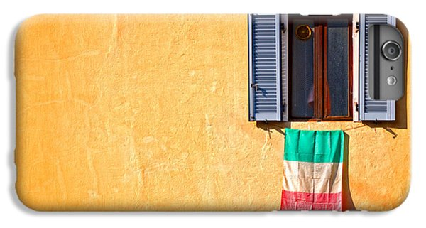 Italian Flag Window And Yellow Wall IPhone 6 Plus Case
