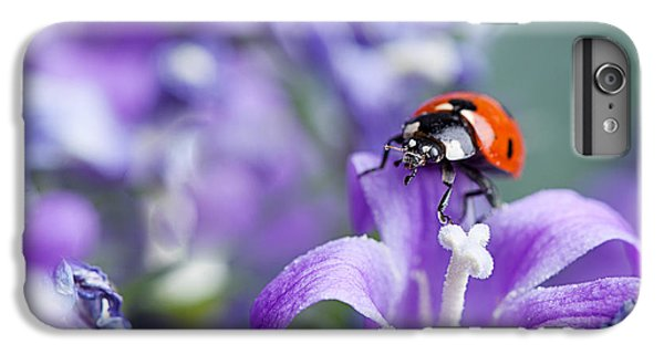 Ladybug And Bellflowers IPhone 6 Plus Case by Nailia Schwarz