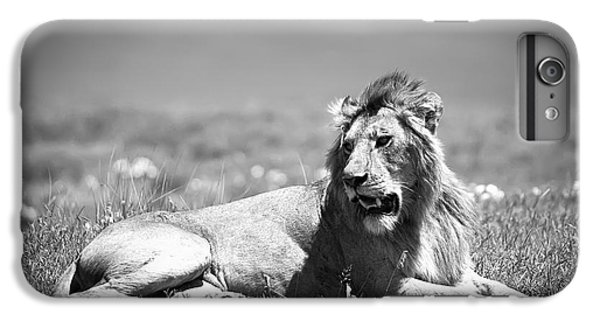 Lion King In Black And White IPhone 6 Plus Case by Sebastian Musial