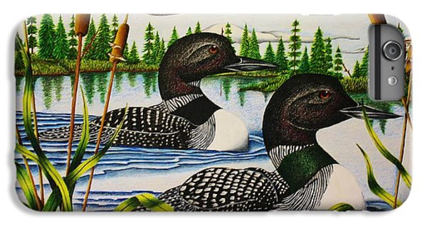 Loon iPhone 6 Plus Case - Morning Swim by Bruce Bley