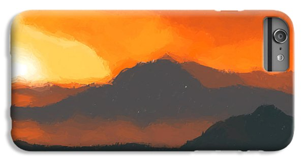 Mountain Sunset iPhone 6 Plus Case - Mountain Sunset by Pixel  Chimp