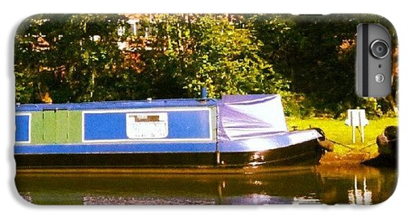 Summer iPhone 6 Plus Case - Narrowboat In Blue by Isabella Shores