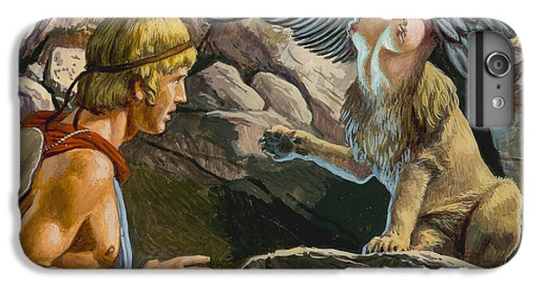 Oedipus Encountering The Sphinx IPhone 6 Plus Case by Roger Payne