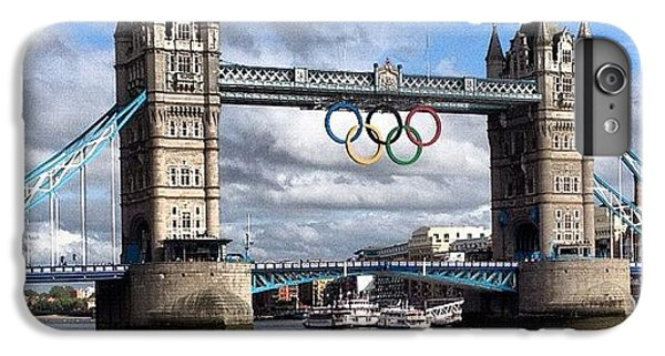 London2012 iPhone 6 Plus Case - Olympic Rings On Tower Bridge #london by Luke Cameron
