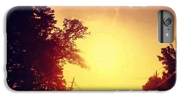 Picking Up Dinner #driving #sunset #sun IPhone 6 Plus Case
