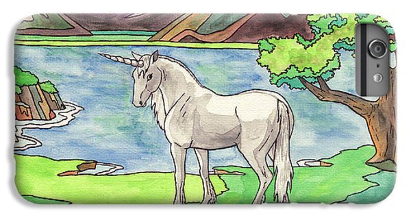 Unicorn iPhone 6 Plus Case - Prehistoric Unicorn by Crista Forest