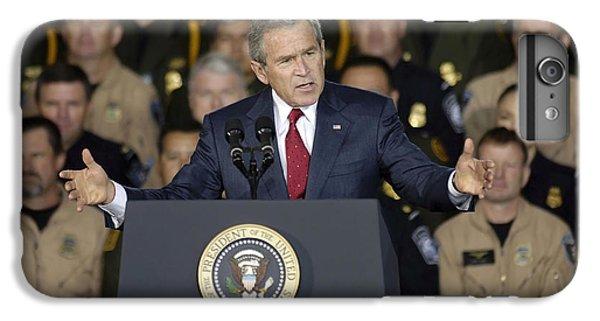 President George W. Bush Speaks IPhone 6 Plus Case by Stocktrek Images