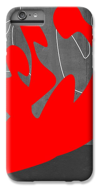 Figurative iPhone 6 Plus Case - Red People by Naxart Studio
