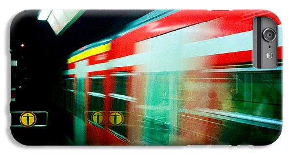 London iPhone 6 Plus Case - Red Train Blurred by Matthias Hauser