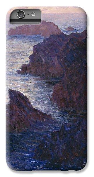 Barren iPhone 6 Plus Case - Rocks At Bell Ile Port Domois by Claude Monet