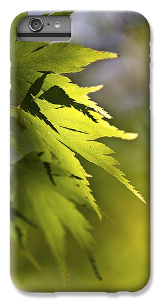 Shades Of Green And Gold. IPhone 6 Plus Case by Clare Bambers