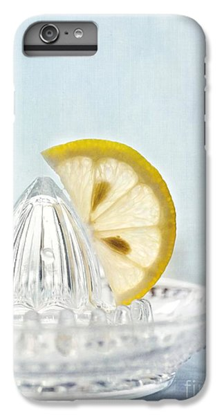Still Life With A Half Slice Of Lemon IPhone 6 Plus Case by Priska Wettstein