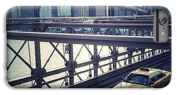 Blue iPhone 6 Plus Case - Taxi On Bridge by Randy Lemoine