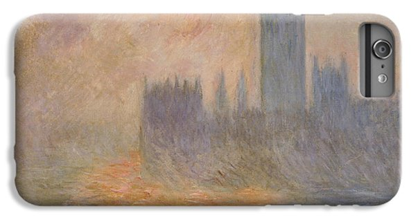 The Houses Of Parliament At Sunset IPhone 6 Plus Case by Claude Monet