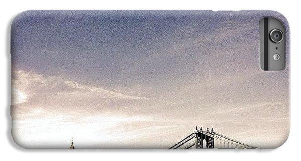 The Manhattan Bridge And New York City Skyline IPhone 6 Plus Case by Vivienne Gucwa