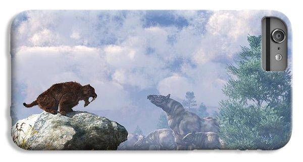 Rhinocerus iPhone 6 Plus Case - The Paraceratherium Migration by Daniel Eskridge