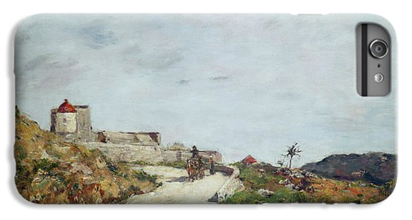 Barren iPhone 6 Plus Case - The Road To The Citadel At Villefranche by Eugene Louis Boudin
