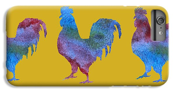 Three Roosters IPhone 6 Plus Case by Jenny Armitage