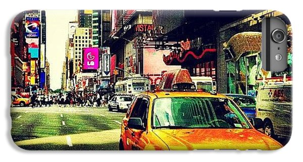 City iPhone 6 Plus Case - Times Square Taxi by Luke Kingma