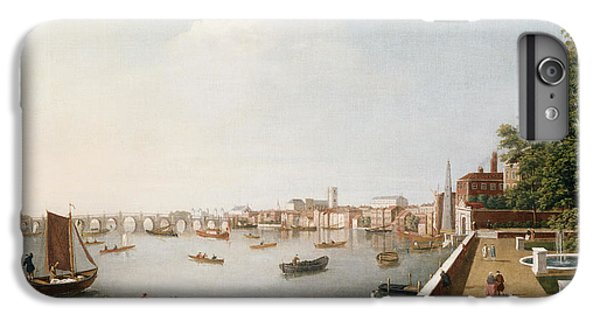 View Of The River Thames From The Adelphi Terrace  IPhone 6 Plus Case by William James