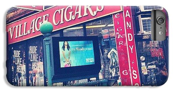 Blue iPhone 6 Plus Case - Village Cigars by Randy Lemoine