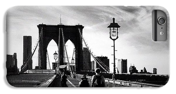 Classic iPhone 6 Plus Case - Walking Over The Brooklyn Bridge - New York City by Vivienne Gucwa