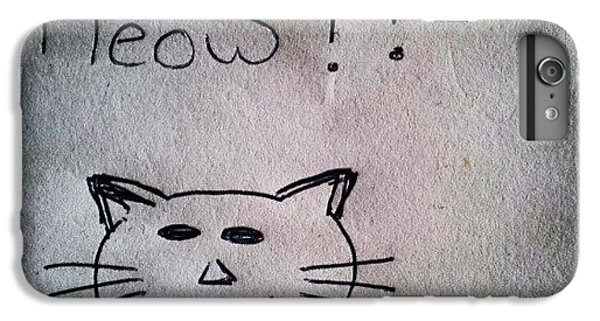 Follow iPhone 6 Plus Case - What My Room Mates Draw! #cat #drawing by Abdelrahman Alawwad