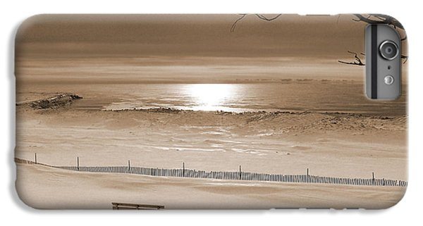 Winter Beach Morning Sepia IPhone 6 Plus Case by Bill Pevlor