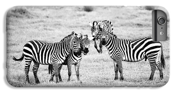 Zebras In Black And White IPhone 6 Plus Case by Sebastian Musial