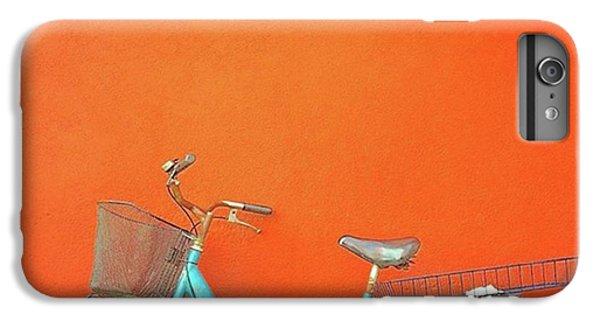 Blue Bike In Burano Italy IPhone 6 Plus Case by Anne Hilde Lystad