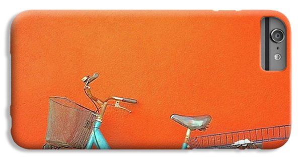 Blue Bike In Burano Italy IPhone 6 Plus Case by Anne Hilde Lystad