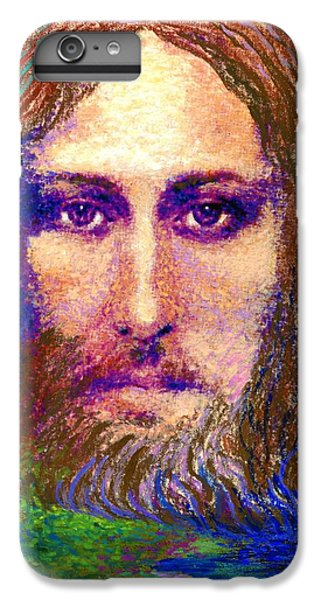Christ iPhone 6 Plus Case -  Contemporary Jesus Painting, Chalice Of Life by Jane Small