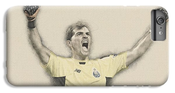 Wayne Rooney iPhone 6 Plus Case -  Iker Casillas  by Don Kuing