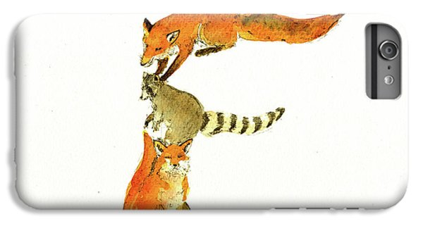 Raccoon iPhone 6 Plus Case - Animal Letter by Juan Bosco