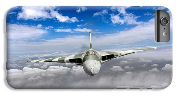 IPhone 6 Plus Case featuring the digital art Avro Vulcan Head On Above Clouds by Gary Eason