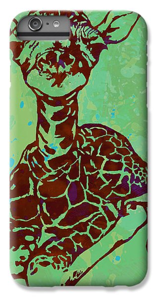 Baby Giraffe - Pop Modern Etching Art Poster IPhone 6 Plus Case by Kim Wang