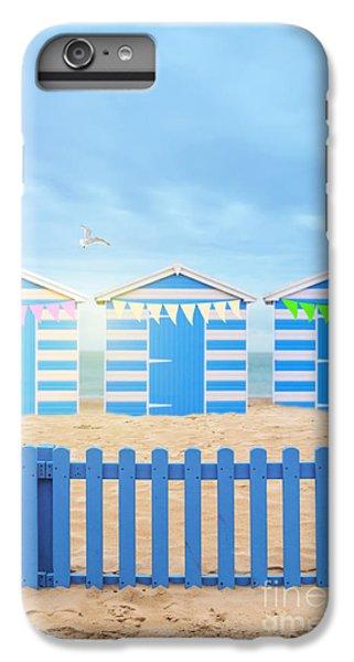 Bunting iPhone 6 Plus Case - Beach Huts by Amanda Elwell