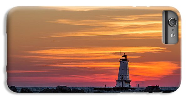 Marquette iPhone 6 Plus Case - Beautiful Ludington Lighthouse Sunset by Adam Romanowicz