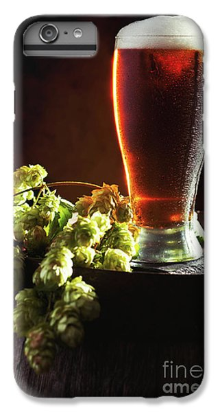Beer And Hops On Barrel IPhone 6 Plus Case by Amanda Elwell