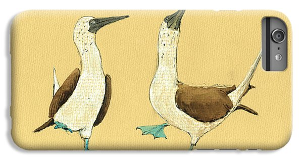Blue Footed Boobies IPhone 6 Plus Case by Juan  Bosco