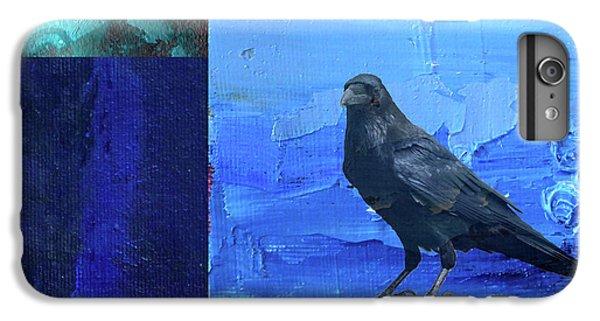 IPhone 6 Plus Case featuring the digital art Blue Raven by Nancy Merkle